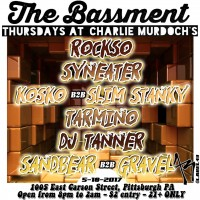 The BASSment Thursdays ft Rockso : Syneater : Kosko b2b Stanky