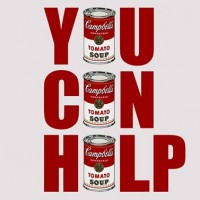 You Can Help - An Andy Warhol Inspired Canned Food Drive Party
